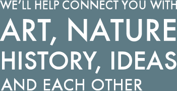 We'll help connect you with art, nature, history, ideas, each other